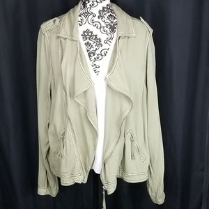 Women's Maurice's 1 plus Army Green jacket